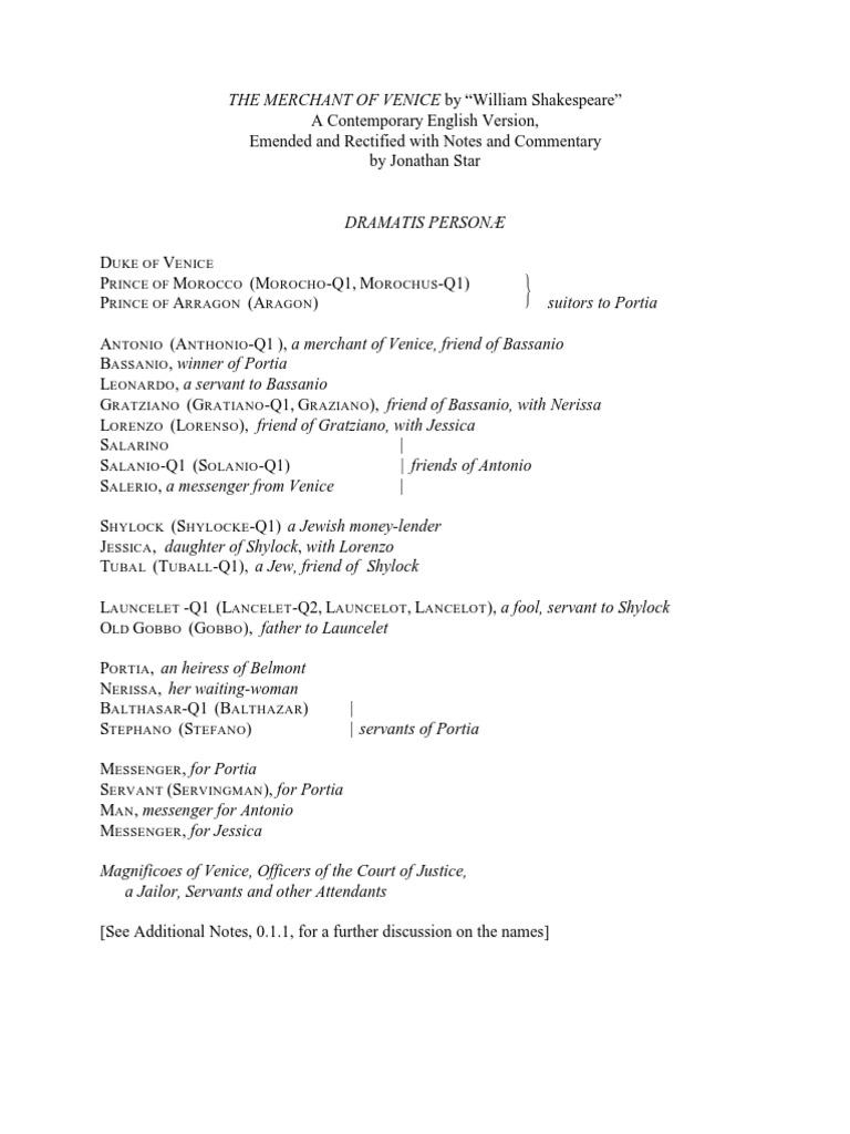 Merchant of Venice | The Merchant Of Venice