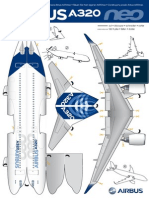 Paper Cut Out A320neo