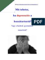 Mit Tehetsz Ha Depressziós