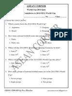 World Cup 2014 Quiz 1