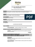 BAL Theatre - Minutes 2013-01-28