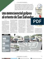 Ola delincuencial golpea el oriente de San Salvador