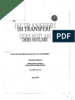 Isı Aktarımı Ders Notu, Fırat Üniversitesi, Kimya Mühendisliği, 2014, Prof.Dr.Fethi KAMIŞLI