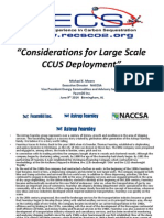 Considerations for Large Scale CCUS Deployment