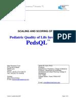 Scoring PedsQL v5