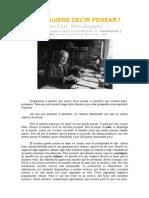 Heidegger - Qué Quiere Decir Pensar