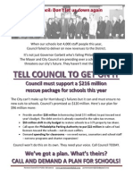 Take action! City Council Flyer June2014