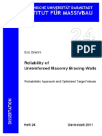 Eric Brehm Reliability of Unreinforced Masonry Bracing Walls