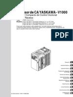 Manual Inversor Yaskawa v-1000