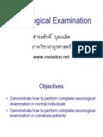 Neurological Examination Handout Jan 2008
