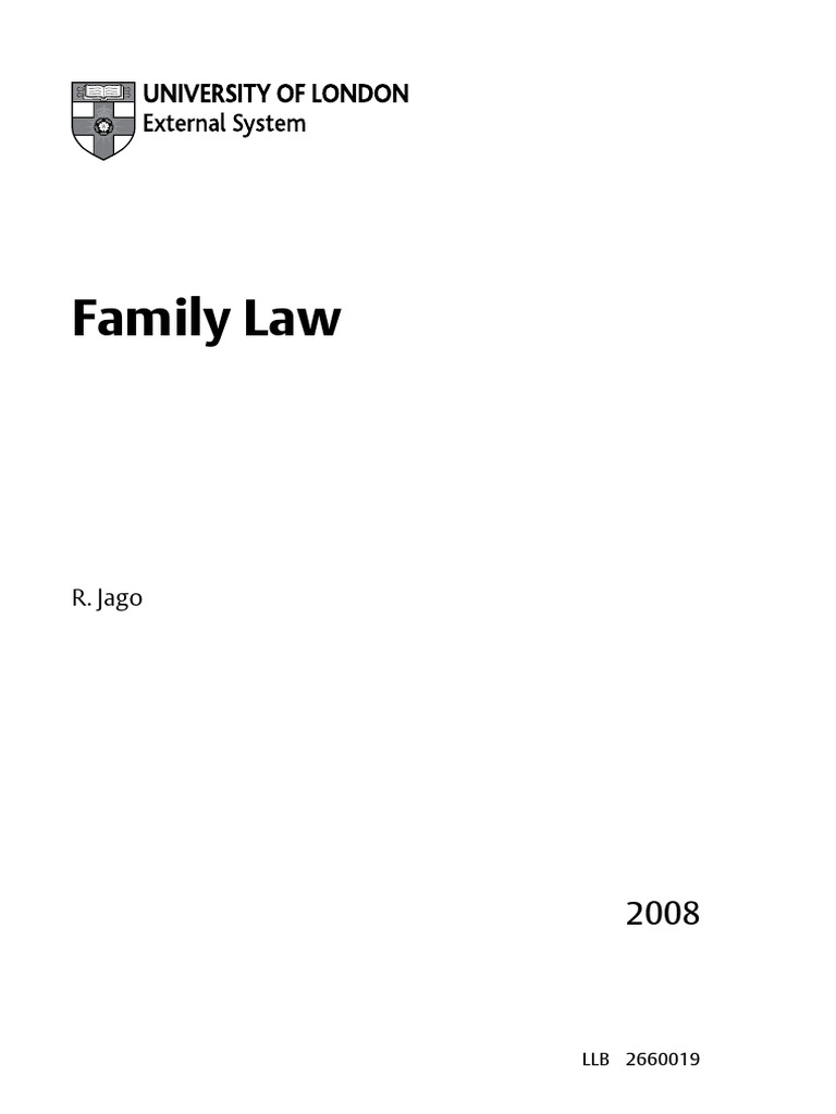 Family Law In Uk Llb Annulment Marriage