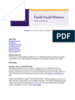June 2014 Catholic Charities USA Parish Social Ministry Newletter