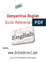 Competitive English Quick Reference Guide