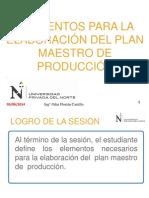 PPT_Elementos Para La Elaboración Del Plan Maestro de Producción