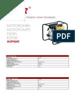 Ficha Tecnica Kdp20