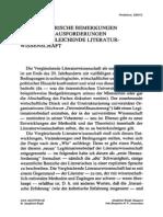 Sexl, Martin (1997) - Fragmentarische Bemerkungen Zu Zwei Herausforderungen an Die Vergleichende Literaturwissenschaft