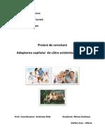 Adopția Copilului de Către Asistentul Maternal