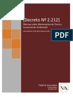 Decreto 2212 Sobre Movimientos de Tierra y Conservacion Ambi