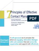 7 Principles of Contact Mgt Unica MIS 2011 Final