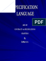 Course Presentations 9 Specifying Language