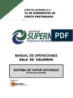 MANUAL de PROCEDIMIENTOS Sala de Calderos - Supermix