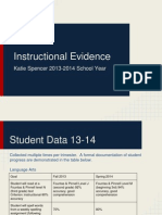 katie spencer instructional evidence