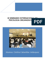 III Seminario Internacional de Psicologia Organizacional