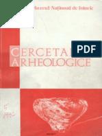 Cercetari Arheologice v 1982