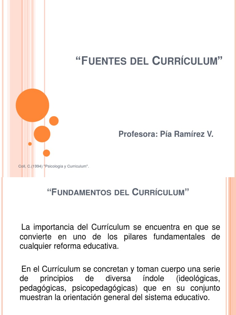 Fuentes Del Curriculum 2