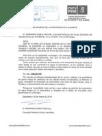 Solicitud AGUA ABREVADERO Corcolilla Nº Registro E-610