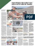 Expedición Arqueológica Descubre Una Tumba Tiahuanaco en El Valle de Tambo