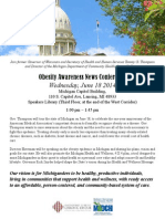Obesity Awareness News Conference