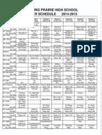 bphs master schedule 14-15