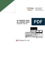Manual Gp4303d a Gp4185d A
