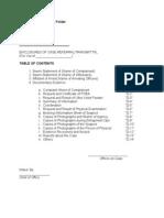 Sample Format of Case Folder
