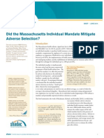 Did the Massachusetts Individual Mandate Mitigate Adverse Selection