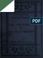 Crafer. The Apocriticus of Macarius Magnes [S.P.C.K. Edition]. 1919.