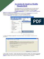 Configurar Tu Cuenta de Gmail en Mozilla Thunderbird y Habilitar Pop en Gmail