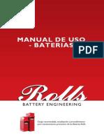 Manual de Uso Baterias