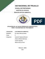 Situación de Las Aguas Residuales Urbanas en El Perú y Sus Métodos de Tratamiento