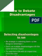 how to debate disadvantages presentation