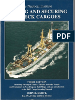 Lashing and Securing of Deck Cargoes