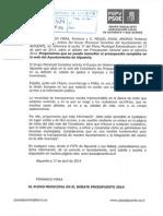 Nuestra Propuesta Publicacion Presupuestos 2014 en Web Ayuntamiento