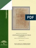 MF Concierto de Bartolomé Morel. Archivo Histórico Provincial de Sevilla 1566. 2010