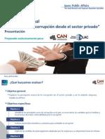 Encuesta Sobre Corrupción en Sector Privado 2021