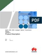 OptiX OSN 3500 V200R011 Product Description V1.0(20100129)