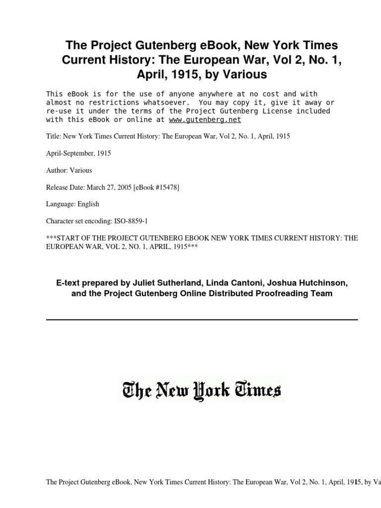 New york times current history the european war vol 2 no 1 new york times current history the european war vol 2 no 1 april 1915april september 1915 by various prize law contraband fandeluxe Gallery
