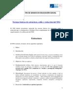 Normas Básicas de Estructura, Estilo y Redacción Del TFG_pdf