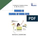 Modulo III Microsof Word 2010
