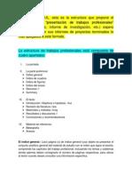 La Estructura de Trabajos Profesionales
